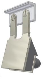 élément de raclage : bras + lame pour racleur frontal type ST-K